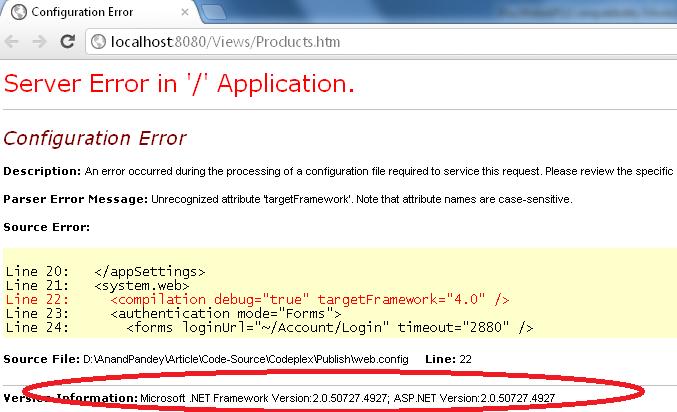 ASP.Net Error